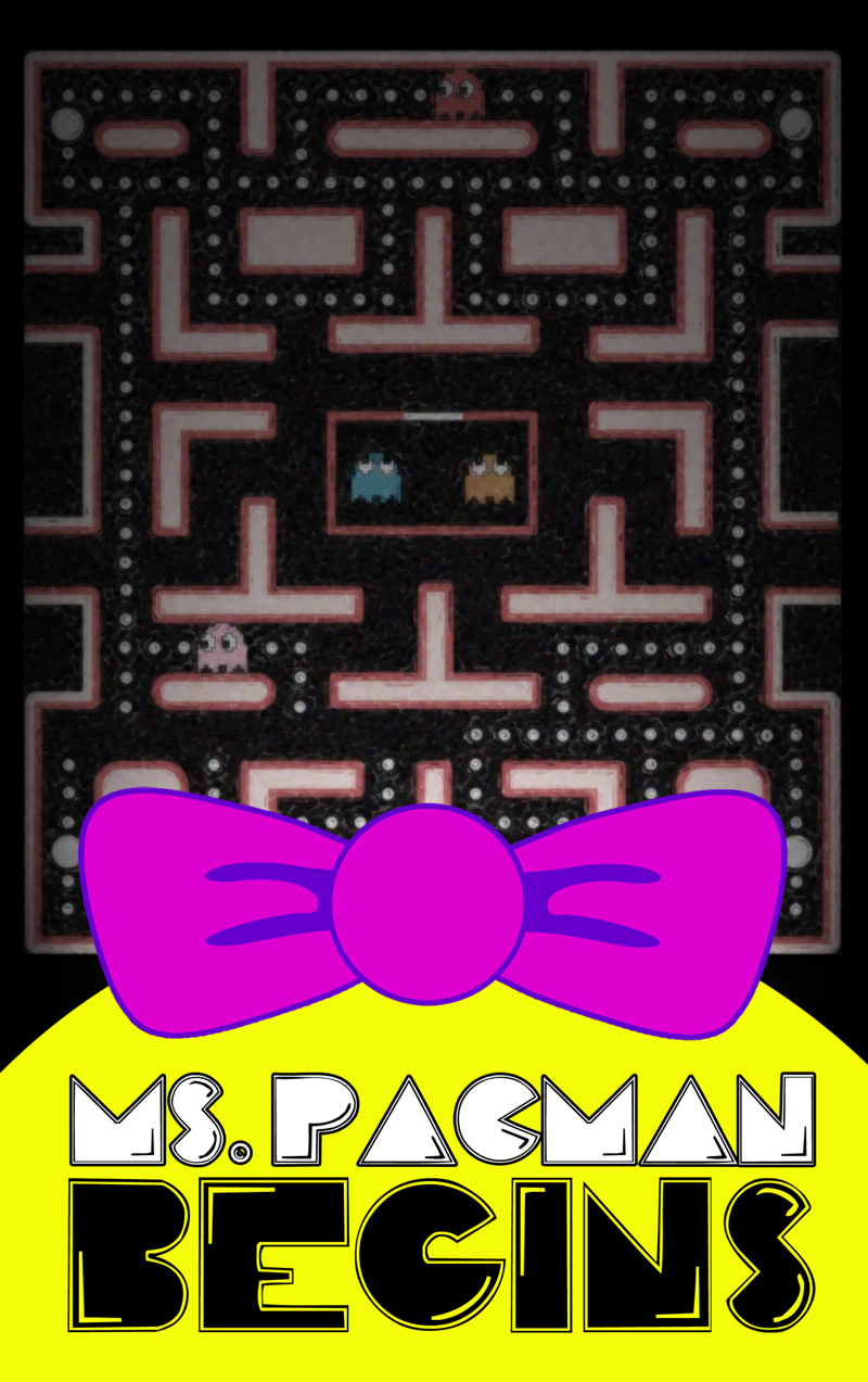 MS PACMAN BEGINS COVER